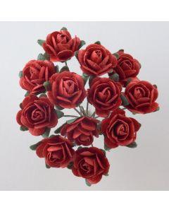 Red paper tea rose – 144 Pack