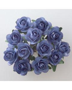 Blue paper tea rose – 144 Pack