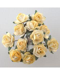 Yellow paper tea rose – 144 Pack