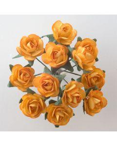 Gold paper tea rose – 144 Pack