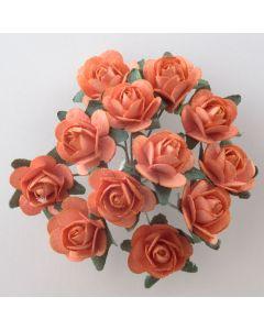 Orange paper tea rose – 144 Pack