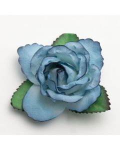 Blue large open rose – 12 Pack