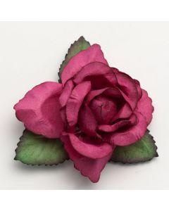 Fuchsia large open rose – 12 Pack