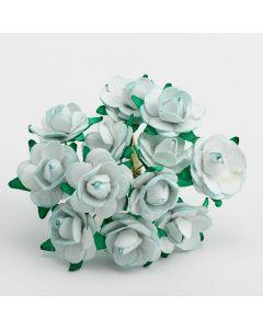 Pale Blue paper tea rose – 144 Pack