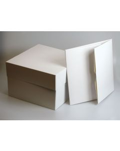 "18""x14""x6"" Stapleless Cake Box & Separate Lid"