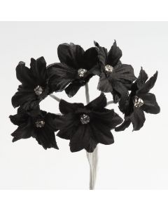 Black diamante margherita – 72 Pack