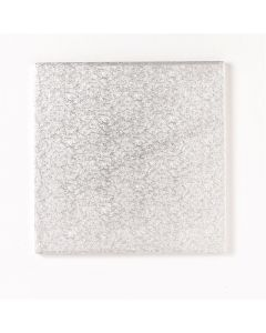 """4"""" Double Thick Square Silver Cake Cards (Pack of 10)"""