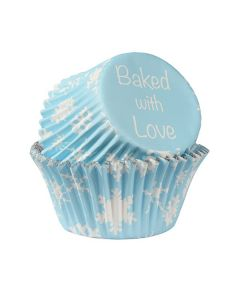 Baked with Love Foil Lined Baking Cases - Snowflakes - Pack of 25