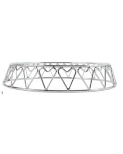 """16"""" Stainless Steel Heart Cake Stand"""