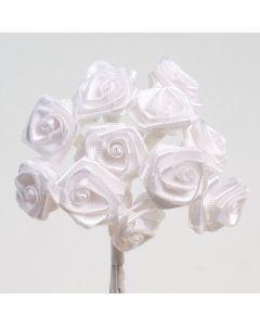 White ribbon rose – 144 Pack