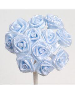 Pale blue ribbon rose – 144 Pack