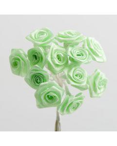 Mint ribbon rose – 144 Pack