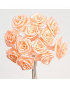 Peach ribbon rose – 144 Pack