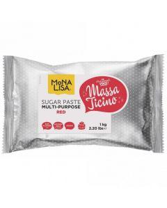 Massa Ticino By Mona Lisa - Red Sugarpaste 1kg
