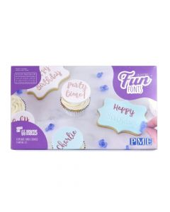 PME Fun Fonts Embossing Collection - For Cupcake & Cookies
