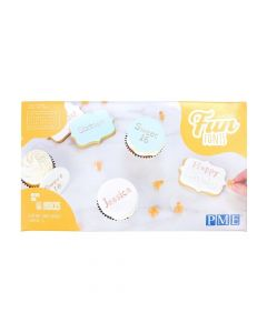 PME Fun Fonts Embossing Collection - For Cupcakes & Cookies Collection 2