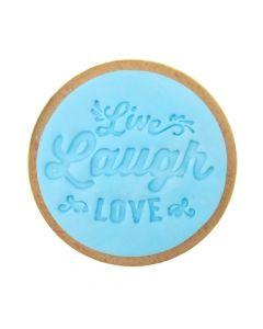 Sweet Stamp 'Live, Laugh, Love' Cookie/Cupcake Embosser