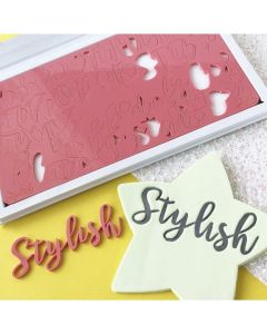 SWEET STAMP  Stylish Letters Embossing Set of 2