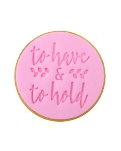 Sweet Stamp 'To Have & To Hold' Cookie/Cupcake Embosser