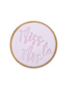 Sweet Stamp 'Miss To Mrs' Cookie/Cupcake Embosser
