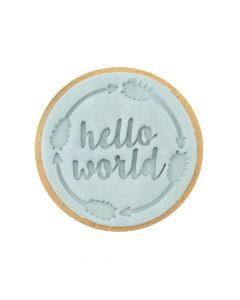 Sweet Stamp 'Hello World' Cookie/Cupcake Embosser