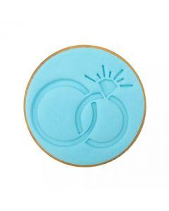 Sweet Stamp Wedding Rings Cookie/Cupcake Embosser