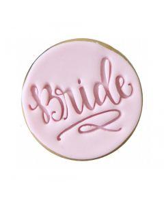 Sweet Stamp 'Bride' Cookie/Cupcake Embosser