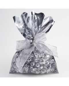 Clear Fronted Silver Foil Gift Bags (pack of 50)