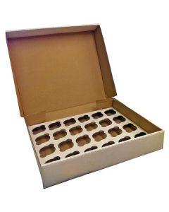 24 Cupcake (Corr) Box with 6cm Dividers (Individual box and divider)