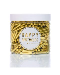 Happy Sprinkles Gold Rods - 90g