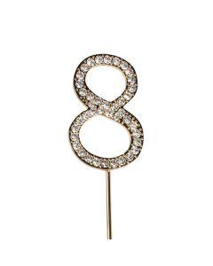 Diamante No 8 - Gold Colour Wire