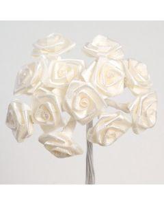 Ivory ribbon rose – 144 Pack