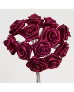 Burgundy ribbon rose – 144 Pack