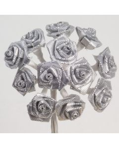 Silver ribbon rose – 144 Pack