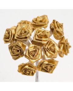 Gold ribbon rose – 144 Pack