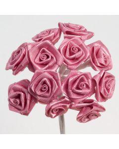 Antique Pink ribbon rose – 144 Pack