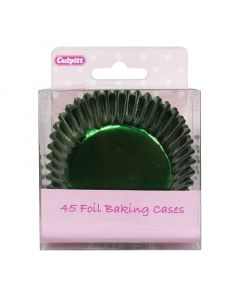 Green Foil Cupcake Baking Cases (pack of 45)