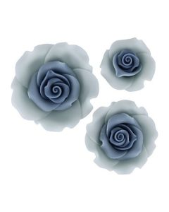 SugarSoft Roses - Mixed Pack -  Ombre Blue - 12 Roses
