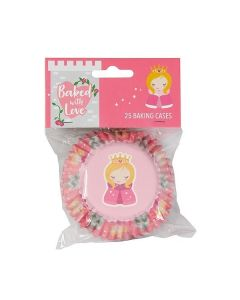 Baked With Love Princess Foil Baking Cases - 25 Cases
