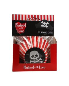 Baked With Love Pirate Foil Baking Cases - 25 Cases