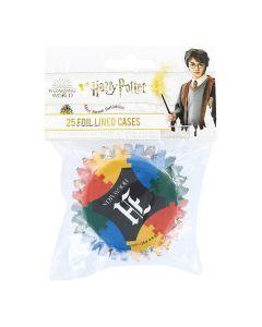 Harry Potter Hogwarts Foil Lined Baking Cases - Pack of 25