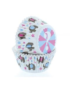 Baked With Love Baby Elephant Baking Cases - Pack of 50