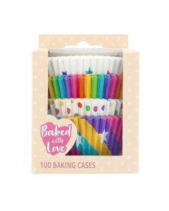 Baked With Love Rainbow Baking Cases- Pack of 100