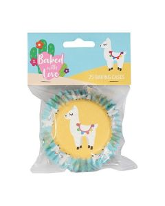 Baked With Love Llama Foil Baking Cases - Pack of 25
