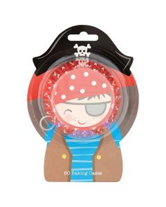 Pirate Baking Cases - Pack Of 50