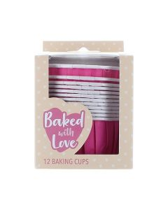 Hot Pink Baking Cups - Pack of 12