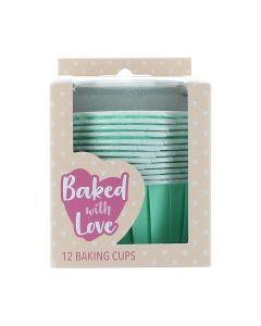 Aqua Baking Cups  - Pack of 12