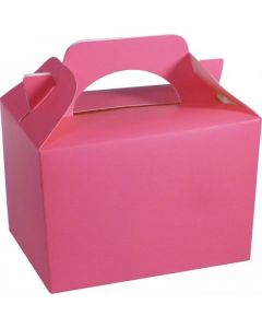 Neon Pink Cake And Sweet Box With Handle (Pack of 5)