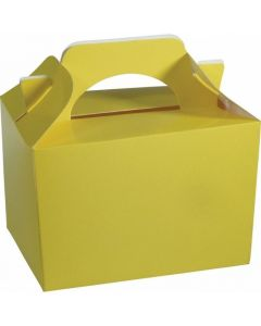 Canary Yellow Cake And Sweet Box With Handle (Pack of 5)