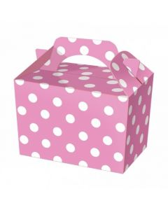 Pink Polka-Dot Cake And Sweet Box With Handle (Pack of 5)